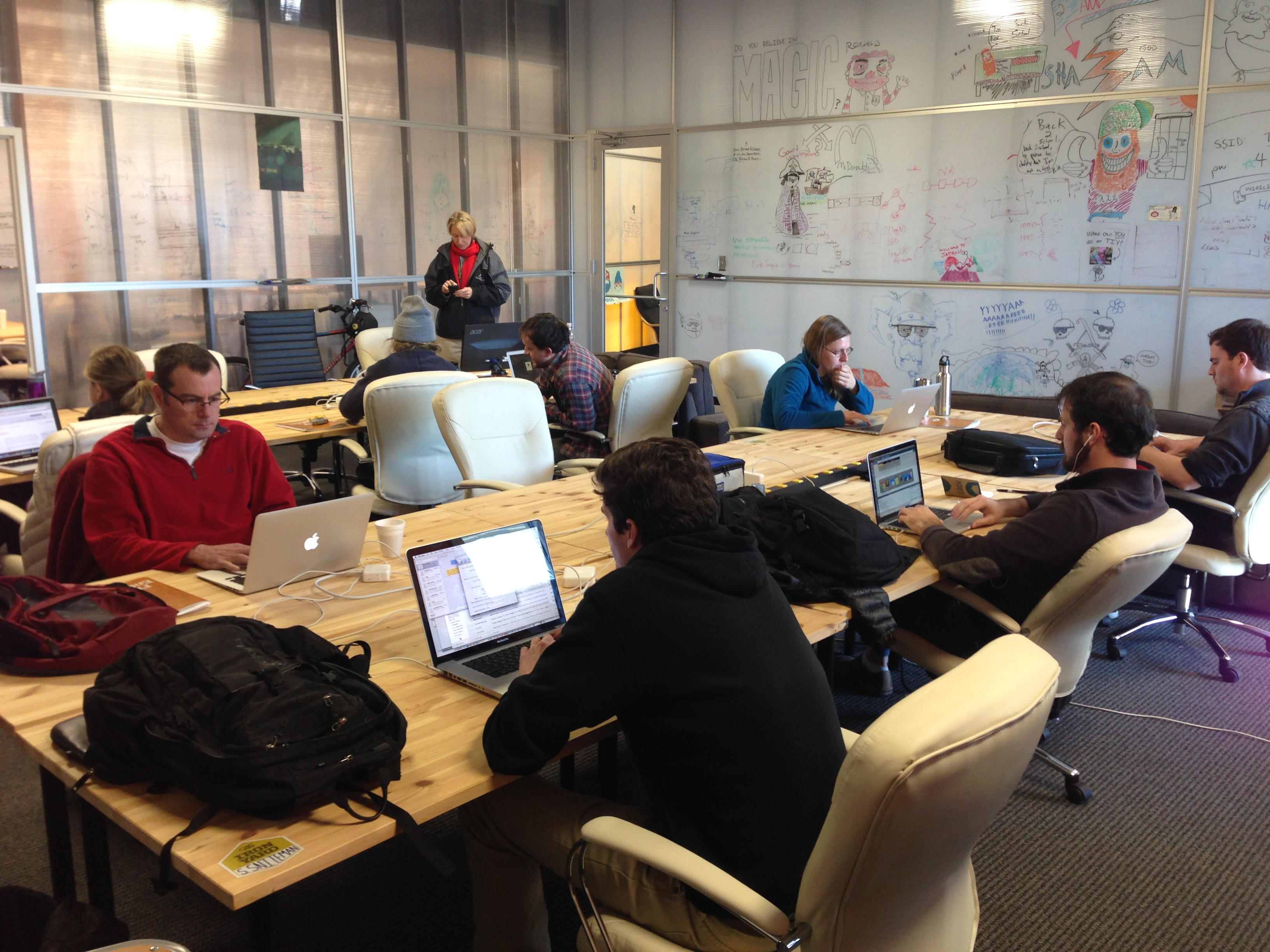 Co-working space for students and teachers in Greenville